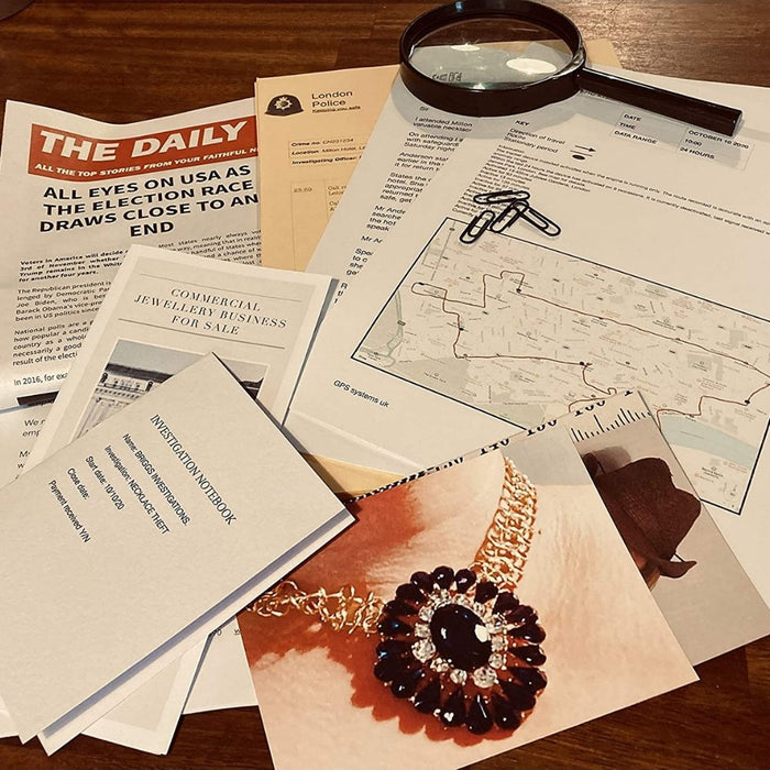 Cold Case Investigation File #1 - Grand Jewellery Theft - The Panic Room Escape Ltd