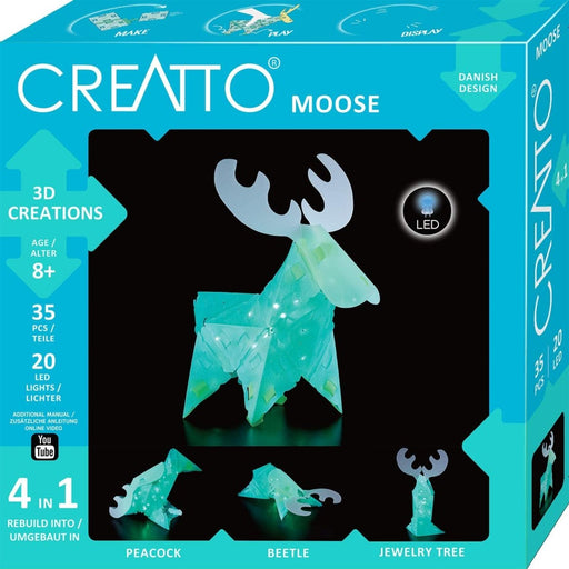Creatto: Magical Moose & Forest Friends | Build up to 4 Crafting kit | Make, Play & Display - The Panic Room Escape Ltd