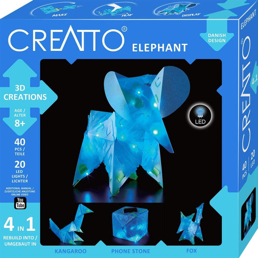 Creatto: Moonlight Elephant Safari | Build up to 4 Crafting kit | Make, Play & Display - The Panic Room Escape Ltd