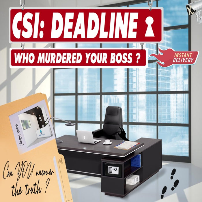 CSI: Deadline - Online Escape Room Experience - The Panic Room Escape Ltd
