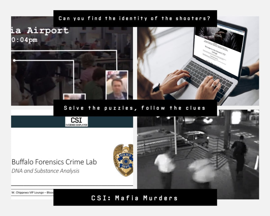 CSI: Mafia Murders - Online Escape Room Experience - The Panic Room Escape Ltd