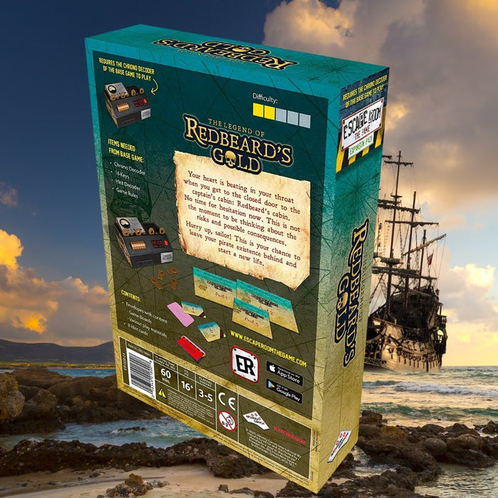 Escape Room the Game The Legend of Redbeard's Gold Expansion Pack - The Panic Room Escape Ltd