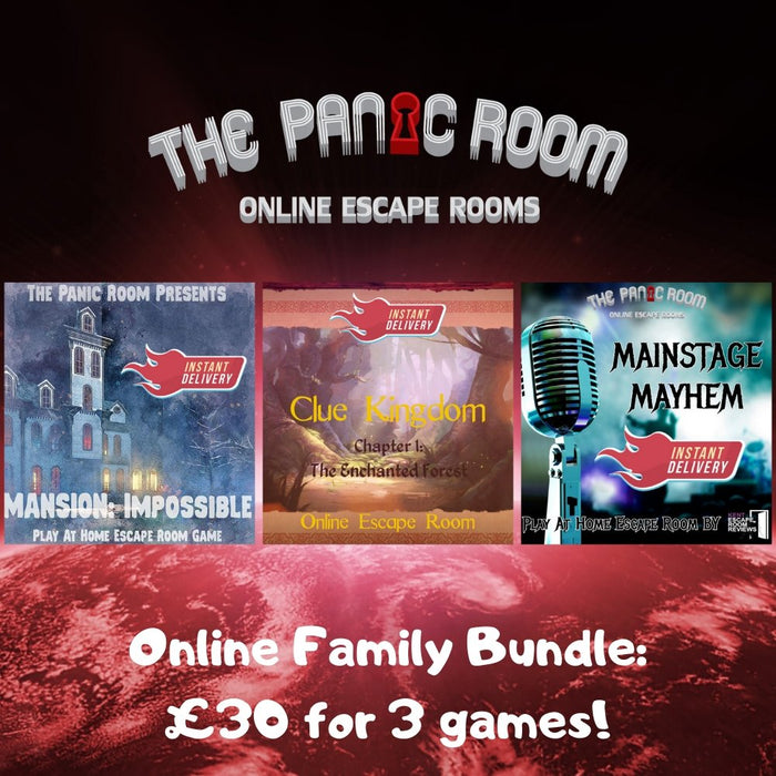 Family Online Escape Room Bundle - The Panic Room Escape Ltd