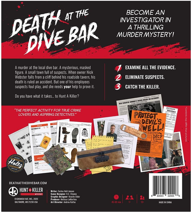 Hunt A Killer: Death at The Dive Bar - Immersive Murder Mystery Case - The Panic Room Escape Ltd