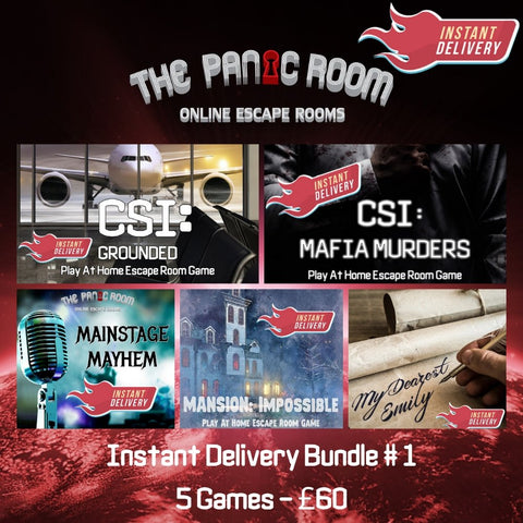 INSTANT DELIVERY BUNDLE #1 - The Panic Room Escape Ltd