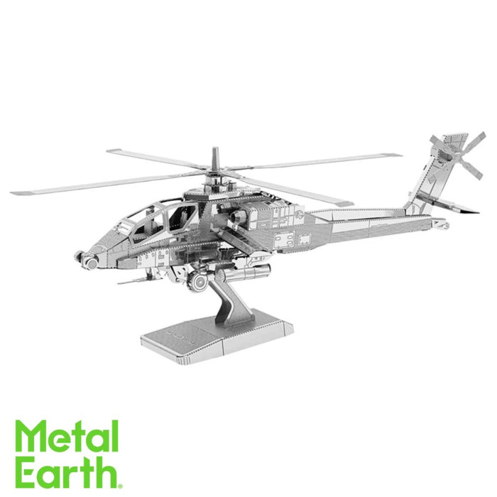 Metal Earth Puzzle - AH-64 Apache - DIY 3D Model Kit / Metal Jigsaw Puzzle - The Panic Room Escape Ltd