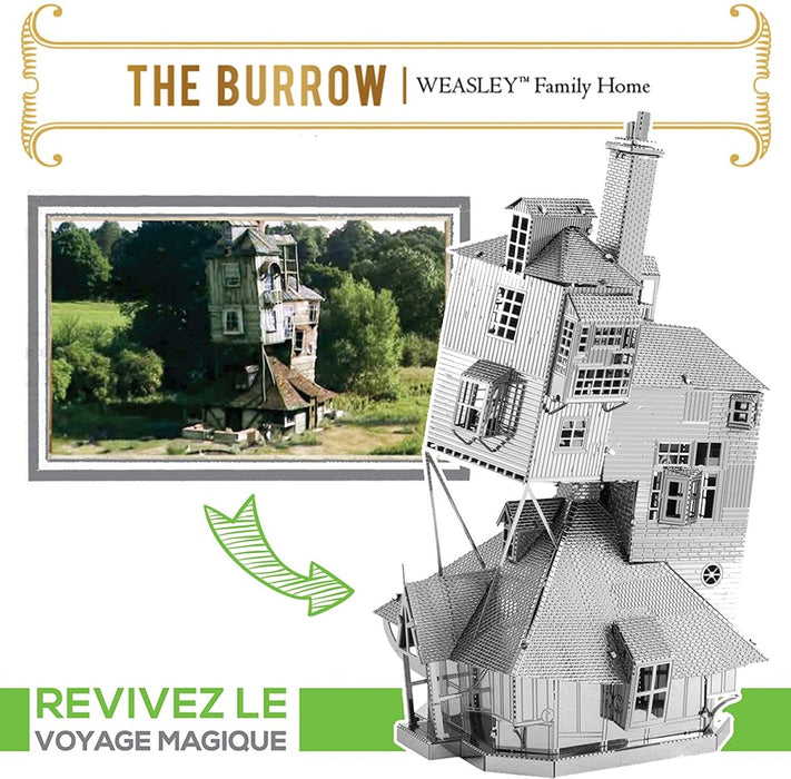 Metal Earth Puzzle - Harry Potter The Burrow - DIY 3D Model Kit / Metal Jigsaw Puzzle - The Panic Room Escape Ltd
