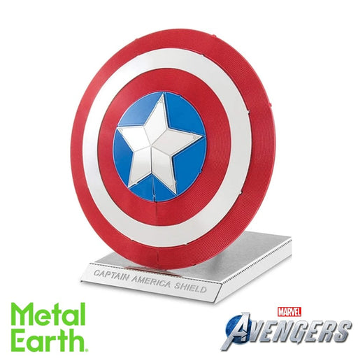 Metal Earth Puzzle - Marvel Avengers Captain America's Shield - DIY 3D Model Kit / Metal Jigsaw Puzzle - The Panic Room Escape Ltd