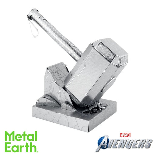 Metal Earth Puzzle - Marvel Avengers Thor's Hammer - DIY 3D Model Kit / Metal Jigsaw Puzzle - The Panic Room Escape Ltd