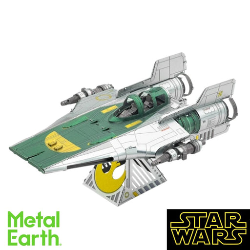 Metal Earth Puzzle - Star Wars: Resistance A-Wing Fighter - DIY 3D Model Kit / Metal Jigsaw Puzzle - The Panic Room Escape Ltd