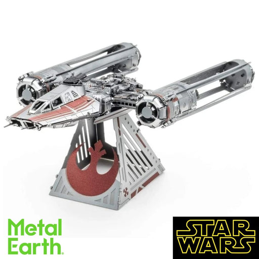 Metal Earth Puzzle - Star Wars: Zorii's Y-Wing Fighter - DIY 3D Model Kit / Metal Jigsaw Puzzle - The Panic Room Escape Ltd