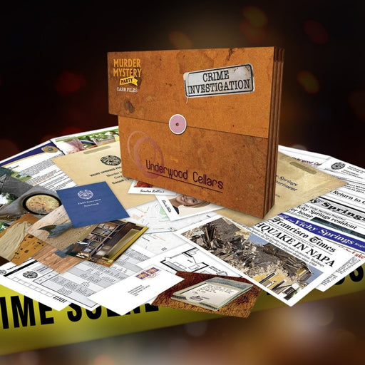 Murder Mystery Party Case Files - Underwood Cellar - The Panic Room Escape Ltd