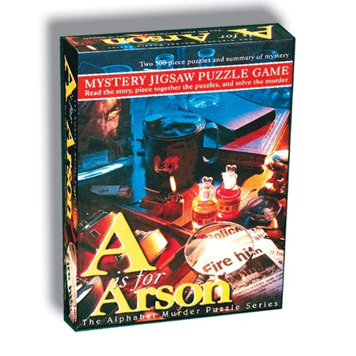 Mystery Jigsaw Puzzle - A Is For Arson - 2x500pcs - The Panic Room Escape Ltd