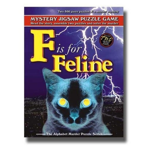 Mystery Jigsaw Puzzle - F Is For Feline - 2x500pcs - The Panic Room Escape Ltd