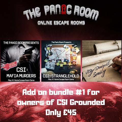 Online Escape Room Add-on Bundle #1 (For CSI: Grounded Owners) - The Panic Room Escape Ltd