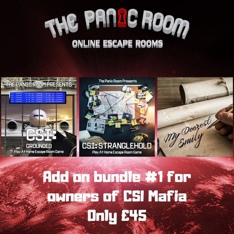 Online Escape Room Add-on Bundle #1 (For CSI: Mafia Murders Owners) - The Panic Room Escape Ltd