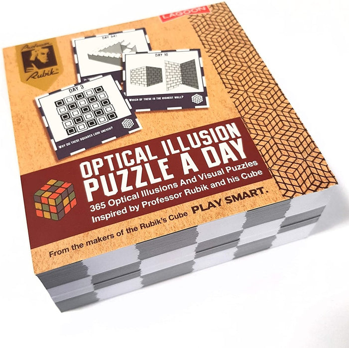 Optical Illusion A Day Deskblock - Professor Rubik - The Panic Room Escape Ltd