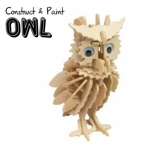 Owl Construction Kit & Paint Set - The Panic Room Escape Ltd
