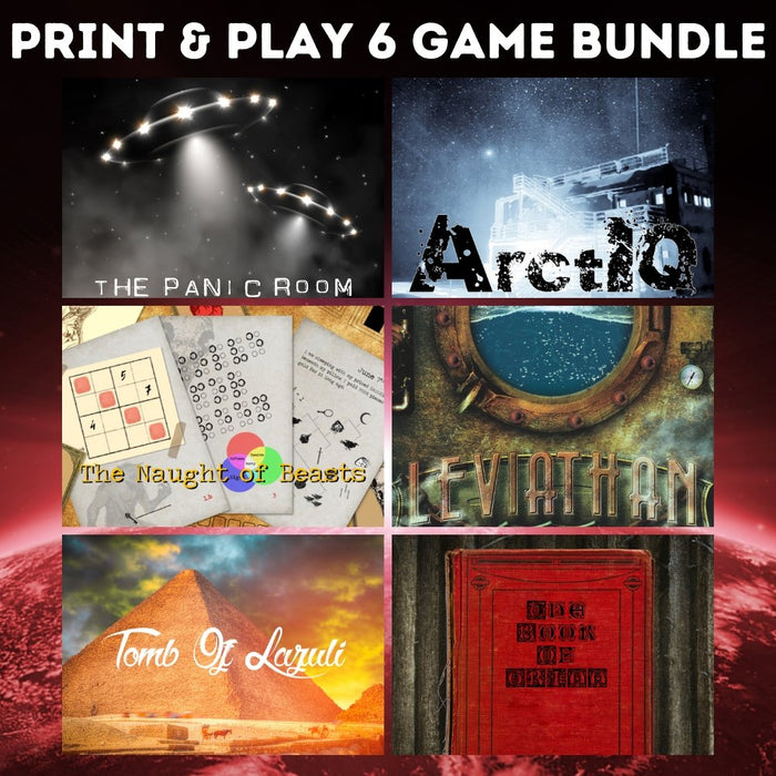 Print & Play - 6 Game Bundle - The Panic Room Escape Ltd