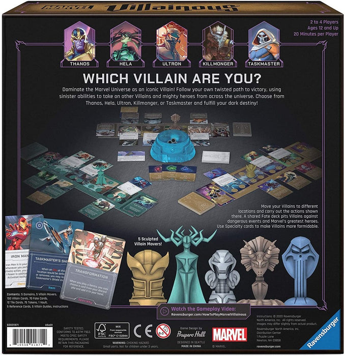 Ravensburger Marvel Villainous Infinite Power - Strategy Board Game for Adults and For Kids Age 12 and Up - The Panic Room Escape Ltd