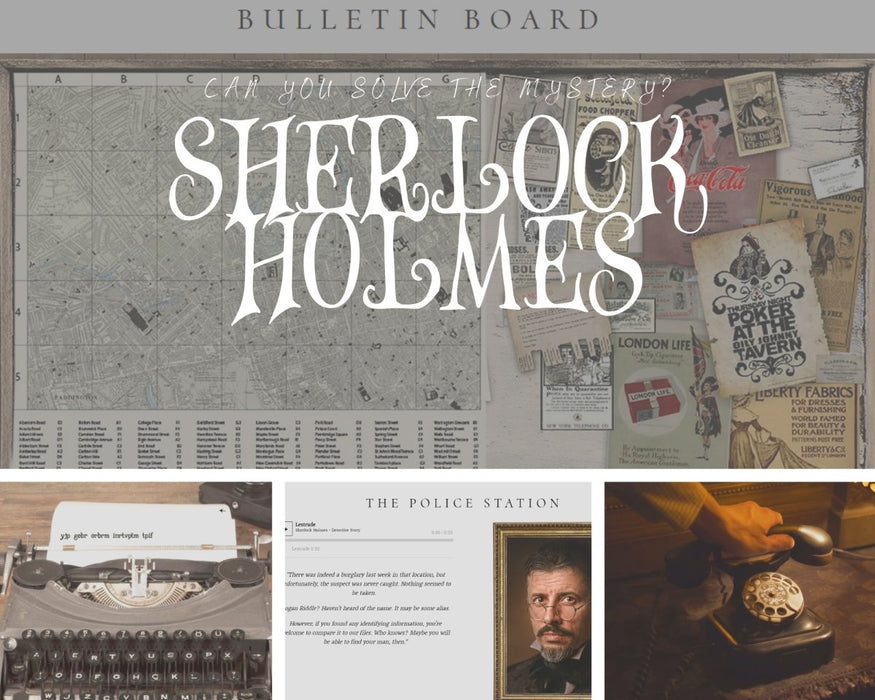 Sherlock Holmes - Online Escape Room Experience - The Panic Room Escape Ltd
