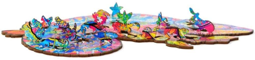 The Chameleon - Deluxe 3D Wooden Jigsaw Puzzle - The Panic Room Escape Ltd