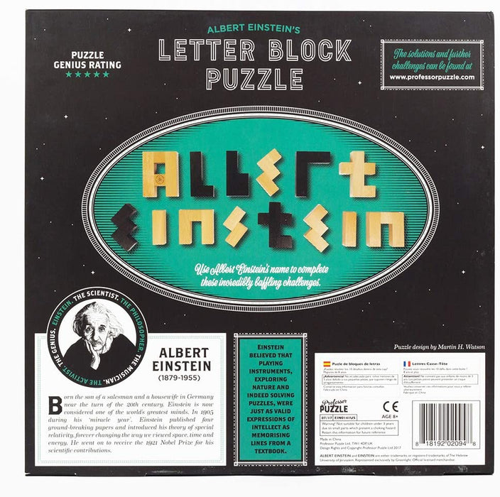 The Einstein Collection - Letter Blocks - The Panic Room Escape Ltd
