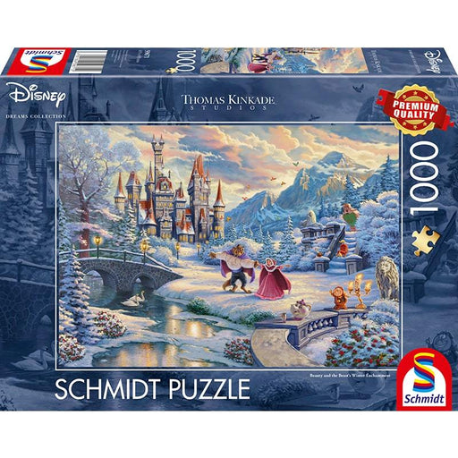 Thomas Kinkade – Disney: Beauty & the Beast Winter Enchantment, 1000 pcs - The Panic Room Escape Ltd