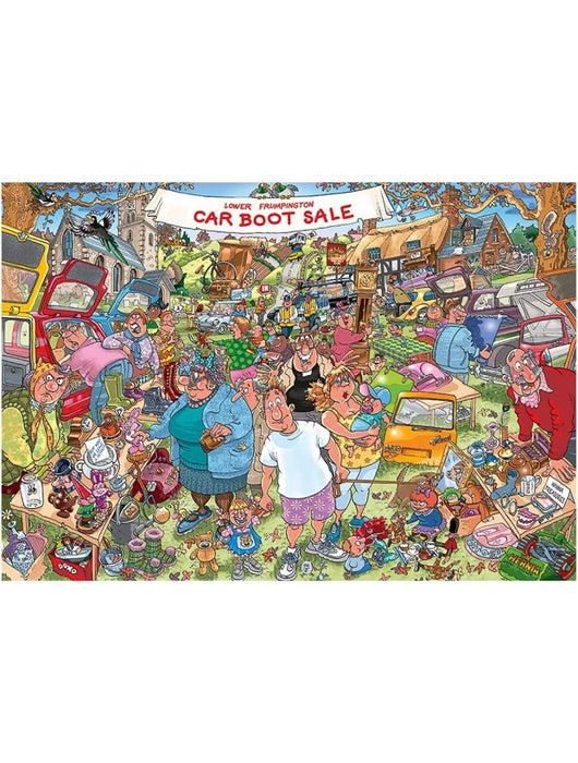 Wasgij Original 35 - Car Boot Capers - 1000 Piece Jigsaw Puzzle - The Panic Room Escape Ltd