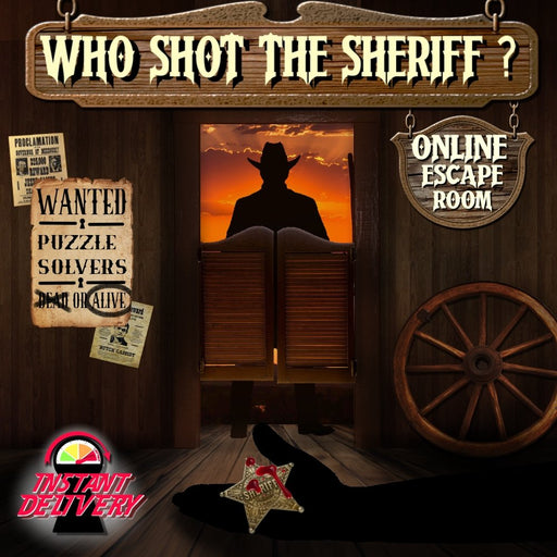 Who Shot The Sheriff? - Online Escape Room Experience *New For 2021* - The Panic Room Escape Ltd