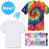 NEW! Creative Workshop - Tie Dye with 12 colour dyes, 2 shirts & 2 bags!