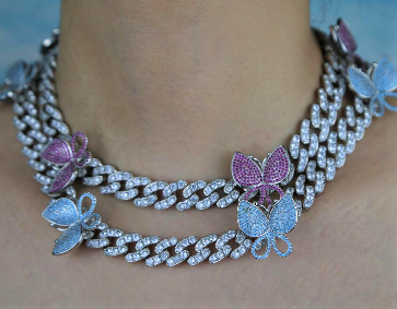 Icey Charm Choker Necklace