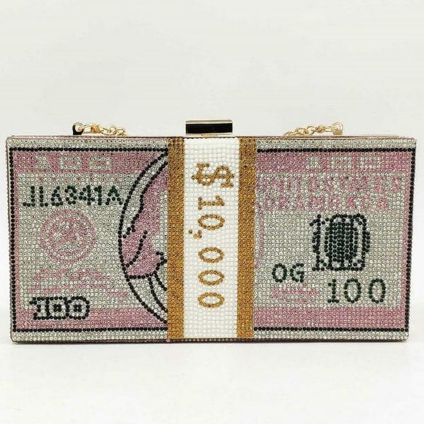 Stack Of Cash Clutch Bag