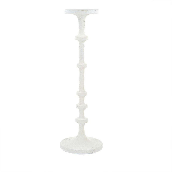 LARGE WHITE CANDLESTICK