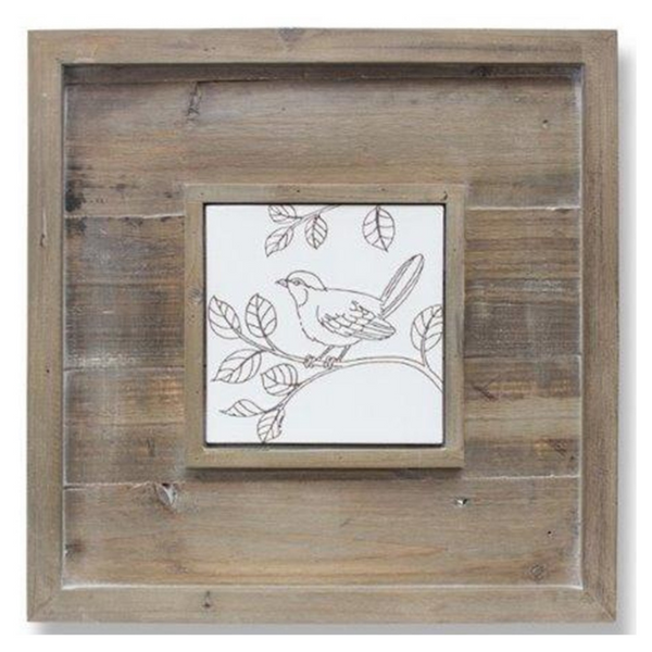 WOOD & CERAMIC BIRD ART - PICK UP ONLY