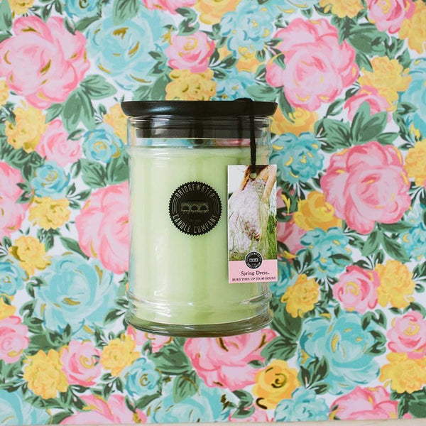18 OZ SPRING DRESS JAR CANDLE