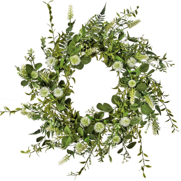 DANDELION & MIXED GREENS WREATH 24""