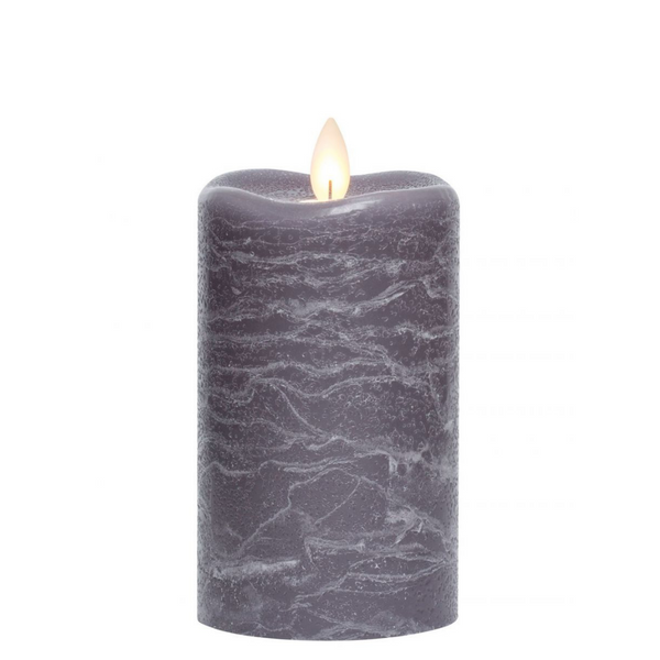 3X5 GRAY LED WAX CANDLE