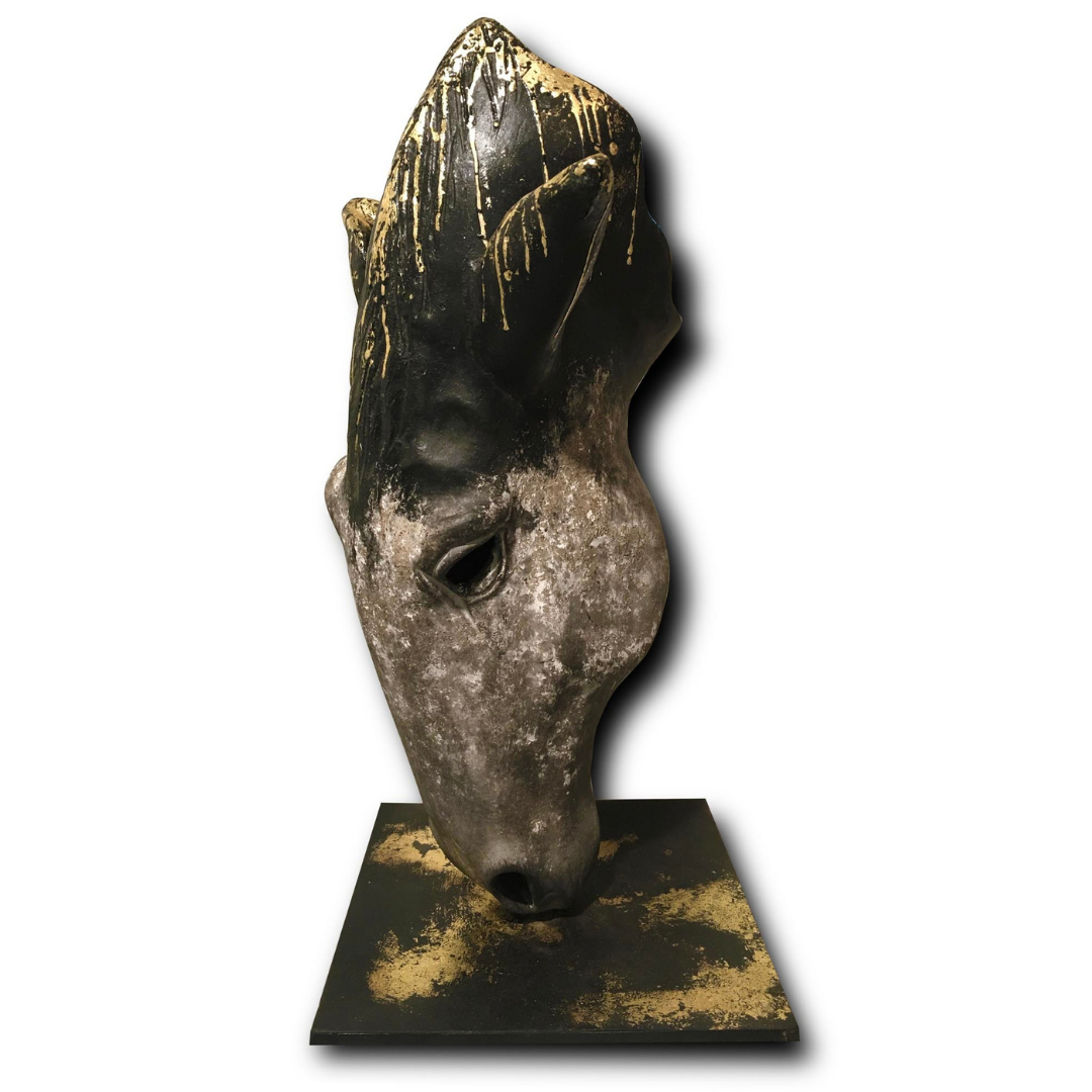 HORSE HEAD SCULTPTURE - LOCAL PICKUP ONLY