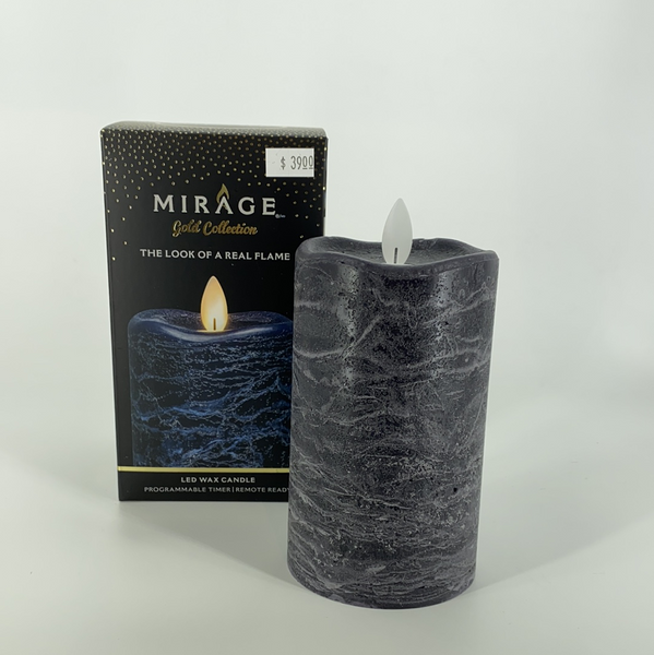 3X5 NAVY BLUE LED WAX CANDLE