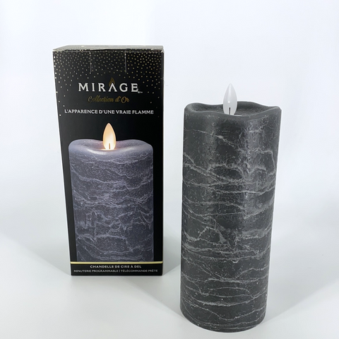 3X7 GRAY LED WAX CANDLE