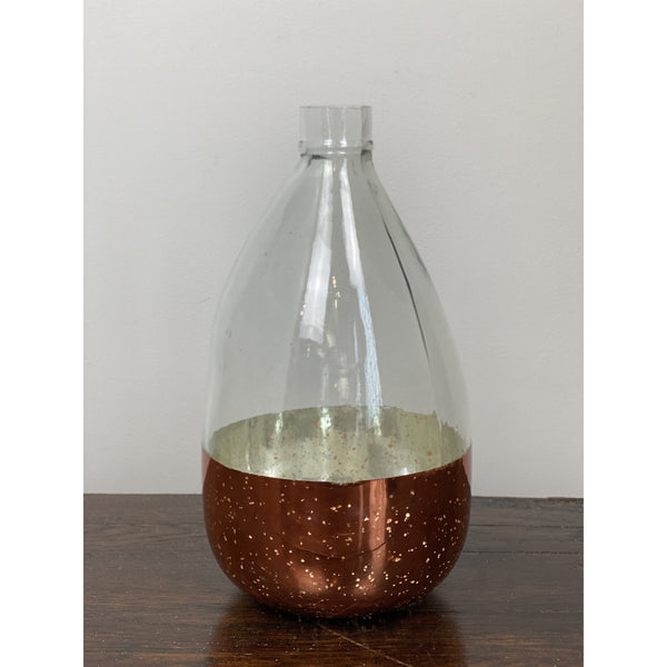 COPPER DIPPED GLASS VASE