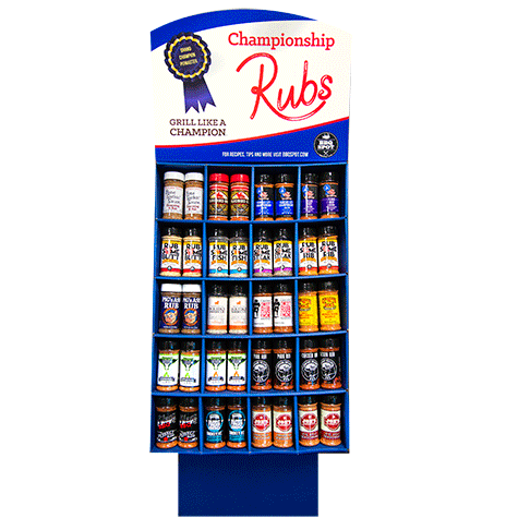Championship BBQ Rub 120 Unit Large Display