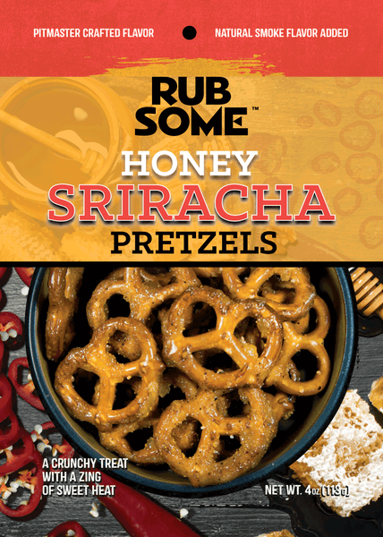 BBQ Spot Rub Some Honey Sriracha Pretzels