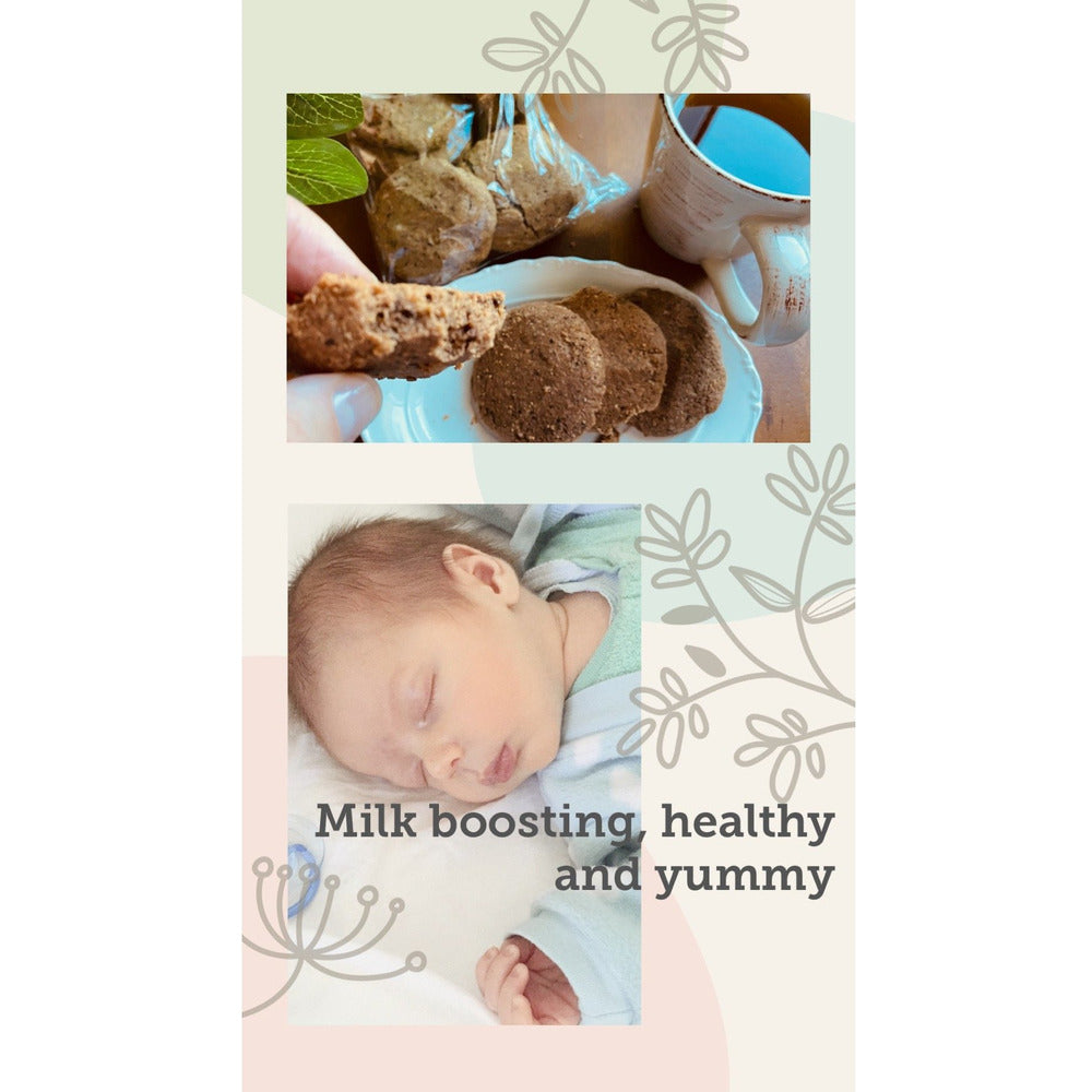 Cookies and Milk Pack of 12 LACTATION Breastfeeding Biscuits