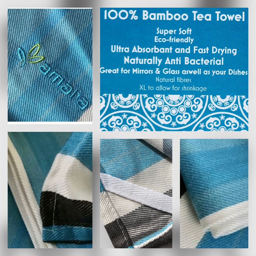 SALE 10 pack Bamboo Tea Towels - Soft, Super Absorbent
