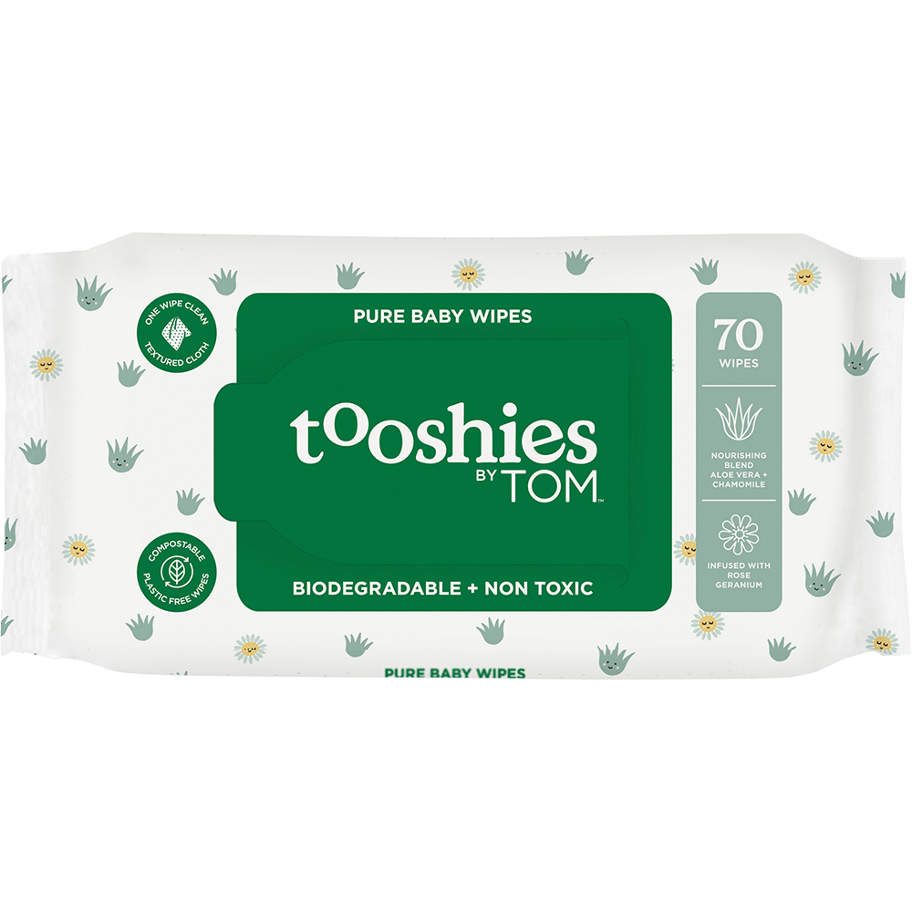 TOOSHIES BY TOM Organic Bamboo Wipes VALUE PACK - InnerCity Style & Gifts