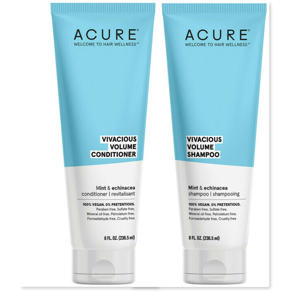 DUO: Acure Vivacious Volume Mint & Echinacea Shampoo & Conditioner (236 ml)