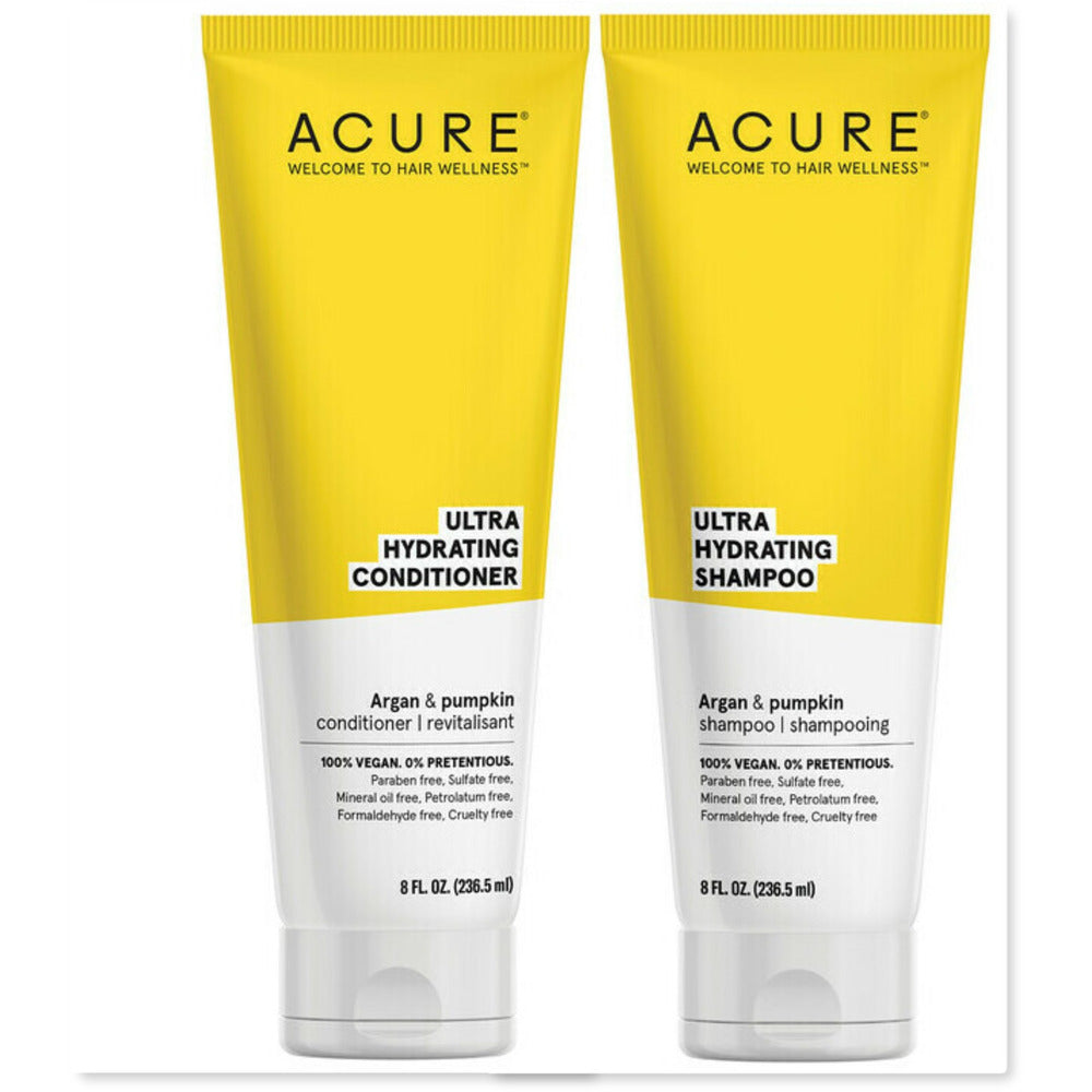 DUO: Acure Ultra Hydrating - Argan Oil & Pumpkin Shampoo & Conditioner (236 ml) - InnerCity Style & Gifts