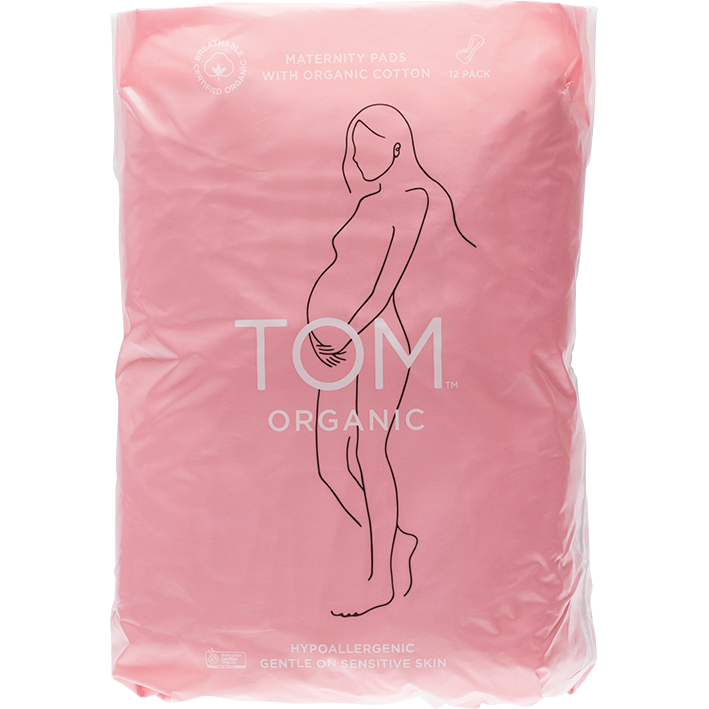 TOM Organic Maternity Pads -pack of 12